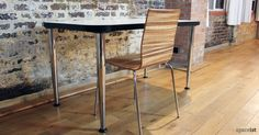 The Anno chair is a stylish comfortable cafe chair. The chair is built using a robust plywood shell and strong chromed tube making it a resilient chair for public use. College Furniture, Cafe Furniture, Cafe Chairs, Dining Chairs, Wood Cafe, Black Table, Cafe Bar, Plywood, Home Decor