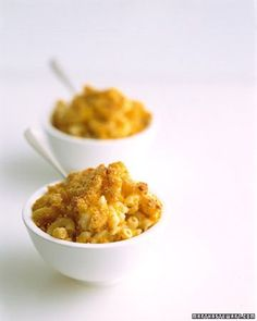 Healthy Mac Cheese by marthastewart: Ricotta and pureed squash give this slimmed-down but familiar dish its creaminess.
