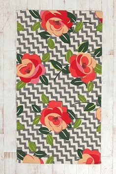 Plum & Bow Rose Stripe Rug - for my kitchen!