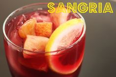 Here is the recipe  1 - 750 ml bottle of Burgundy or Cabernet Wine (cheap is OK)  1/3 cup Triple Sec  1/3 cup Brandy  1/3 cup Orange Juice  1/3 cup sugar   1 firm apple cubed - peel on  1 orange no peel just the inside cubed  1 lemon sliced thin  1 lime optional (sliced like the lemon)   ***If you are making for a party triple the recipe***