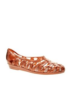 Image 1 of JuJu Vicky Copper Cut Out Flat Shoes