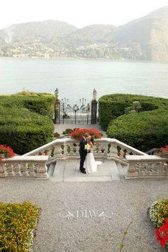 Lake Como Villa for Wedding Ceremonies - http://www.distinctiveitalyweddings.com/blog/2013/01/lake-como-wedding-natasha-and-owen/  #Castle Enchanting Wedding Venues // Aisle Perfect