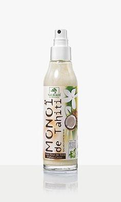 Monoï véritable de Tahiti AOC aux irrésistibles senteurs de coco Coco Nucifera, Hygiene, Water Bottle, Drinks, Beauty, Coconut Oil, Glass Vials, Organic Beauty, Hair Care