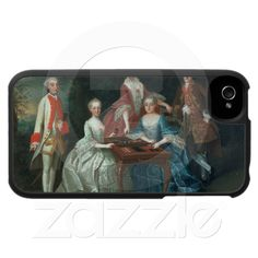 Now who wouldn't want this....  Group portrait of the Harrach family playing iPhone 4 Covers from Zazzle.com
