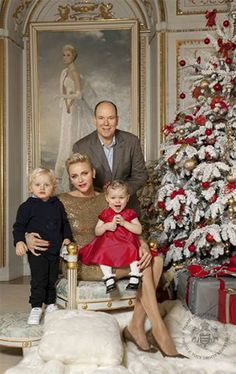 Prince's Palace of Monaco Fans are treated to a glimpse inside Prince Albert of Monaco and Princess Charlene's home every winter, when the couple release their Christmas card. In true festive style, the royals posed with their twins Prince Jacques and Princess Gabriella by the ornate tree in the Salon des Glaces. Last year's card was even more sentimental, as the family posed in front of a painting of Albert's late mother Grace Kelly.