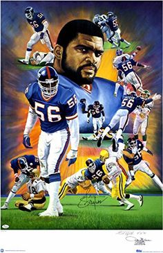 Lawrence Taylor New York Giants Autographed x Lithograph-Limited Edition of 300 - Fanatics Authentic Certified Famous Baseball Players, Nfl Football Players, Steelers Football, Pittsburgh Steelers, New York Giants Football, Oakland Raiders Football, Dallas Cowboys, Charlie Sheen, Bagan