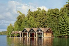 Thom Filicia Crafts a Family-Friendly Retreat in the Adirondaks Architectural Digest, Indoor Outdoor, Outdoor Spaces, Thom Filicia, Saranac Lake, Lakeside Living, Outdoor Living, Lakefront Property, Lakes