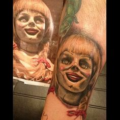 annabelle doll tattoos