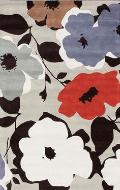 Petunia 100% Wool Hand-Tufted Area Rug in Taupe design by NuLoom