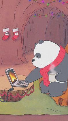My baby panda💖 Cartoon Wallpaper, Bear Wallpaper, Kawaii Wallpaper, Disney Wallpaper, We Bare Bears Wallpapers, Panda Wallpapers, Cute Wallpapers, Foto Cartoon, Bear Cartoon