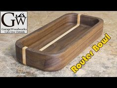 Woodworking 101 Make a Bowl with a Router - GarageWoodworks - Wood Turning Lathe, Wood Turning Projects, Wood Projects, Router Woodworking, Woodworking Videos, Woodworking Projects, Woodworking Classes, Woodworking Furniture, Custom Woodworking