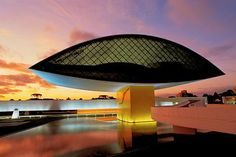 "The Oscar Niemeyer Museum - the ""Eye Museum"" #architecture"