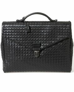 Dream Briefcase: Bottega Veneta Intrecciato Leather Briefcase