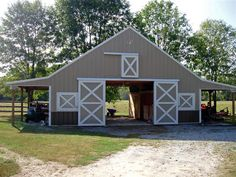 barns with overhang - Google Search