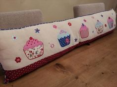 Pretty Fabric Cupcake and Floral Draught Excluder