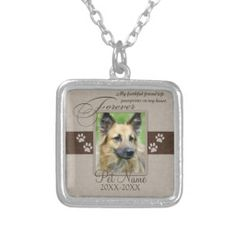 Personalized Jewelry Forever Loved Pet Sympathy Custom Jewelry - Shop Forever Loved Pet Sympathy Silver Plated Necklace created by healingtears. Personalize it with photos Personalized Memorial Gifts, Personalized Jewelry, Custom Jewelry, Dog Jewelry, Animal Jewelry, Jewelry Shop, Vintage Jewelry, Jewelry Accessories, Boho Necklace