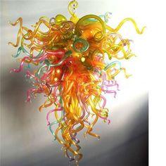 Christmas Chandelier Multicolor Dale Chihuly <font><b>Inspired</b></font> Art Lamp 110v/240v LED Bulbs Blown Glass Chandelier Lighting