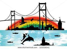 Istanbul City Stock Vector 121016041 : Shutterstock
