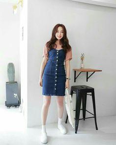 Korean Fashion Tips .Korean Fashion Tips Korean Outfits, Trendy Outfits, Cute Outfits, Cute Fashion, Girl Fashion, Fashion Tips, Fashion Design, Boho Fashion, Cute Dresses