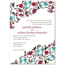 Modern Paisley Wedding Invitations