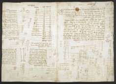 f. 280v, displayed as an open bifolium with 279: notes
