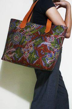 Anjani Red Batik Bag - Djokdja Batik and Handicraft