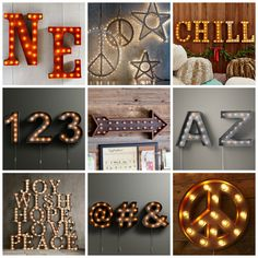 finding brand name looks at a price you can like Diy Marquee Letters, Giant Letters, Marquee Sign, Teen Girl Bedrooms, Teen Bedroom, Bedroom Decor, Wall Decor, Pottery Barn Look, Decorating Ideas