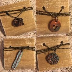 Available in the Krusen Creations Etsy shop. $15 with free shipping. Boho Chic vintage inspired necklaces.