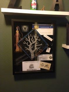 Graduation | Decorated grad cap and shadow box. Love the tree of knowledge. Here's a step by step how-to (click for the link)