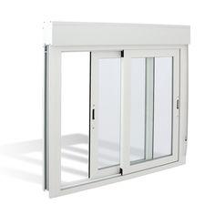 Ventana aluminio blanco con persiana y mosquitera for Precio ventana pvc con persiana