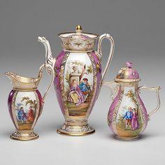 Meissen and Meissen-Style Porcelain Coffee Set