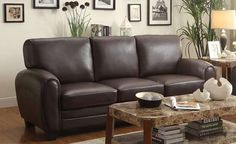 Homelegance Rubin Sofa in Dark Brown Finish Cream Leather Sofa, Best Leather Sofa, Leather Couches, Black Leather, Brown And Cream Living Room, Brown Couch Living Room, Paint Colors For Living Room, Living Room Decor, Living Area