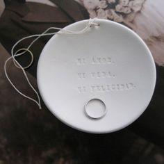 MI AMOR. MI VIDA. MI FELICIDAD. Spanish Ring Bearer Bowl