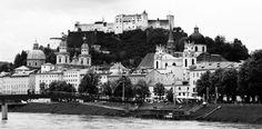 Salzburg/Áustria - vista do centro histórico
