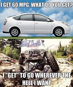 A Prius is Nothing Like a Jeep