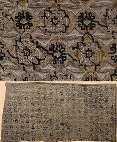 "Antique Islamic  Egyptian Mamluk  Embroidery  Mamluk Period  1250 - 1517 A.D  Size: 22"" x 13""  Size 56 x 33cm"