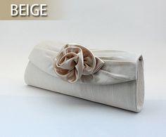 Toptie Simple Rose Satin Evening Handbag - Wholesale