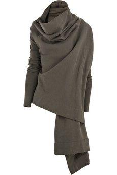Fleece wrap cardigan by DRKSHDW by Rick Owens
