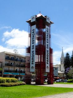Torre do Parque da Estação, Carlos Barbosa/RS. Portfólio de 07.11.2015.
