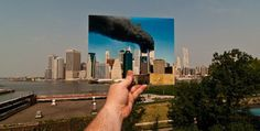 i feel this is really effective as it allows the observer to see what happens during the 9/11 and that nothing much hasn't changed.