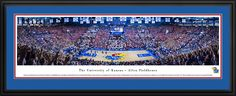 Kansas Jayhawks Basketball Panoramic Picture - Allen Fieldhouse Panorama - Deluxe Frame $199.95