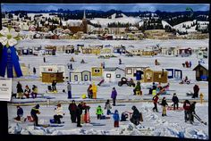 """""""Ice Fishing Village"""" by Les Amies du Quilt"""