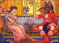Beauty and the Beast by Walter Crane.