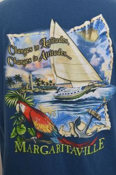Jimmy Buffett Margaritaville shirt Mens XL Changes in Latitude