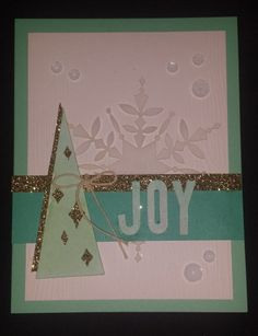 Stampin' Up! demonstrator Candice A's project showing a fun alternate use for the Watercolor Winter Simply Created Card Kit.