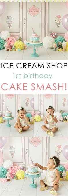 first-birthday-cake-smash-portrait-session-ice-cream-shop-theme