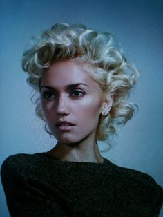 Gwen Stefani; She's wearing less make-up then usual, less eyeliner and no lipstick and I love it.