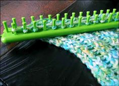 Knitting With Looms: Baby Boy Stroller Blanket - the Beginning