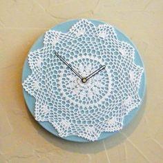 10 DIY Lace Wall Clocks