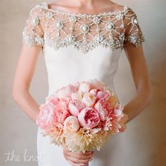 Love the intricately beaded top on this Marchesa gown! - hey I took that photo;) xoxo, elizabeth www.kissthegroom.com